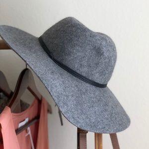 Nordstrom Wool Hinge Light Grey Floppy Wool Hat
